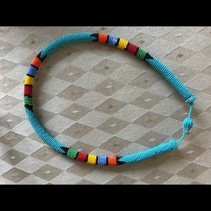 Jewelry - Vintage African Zulu beaded necklace
